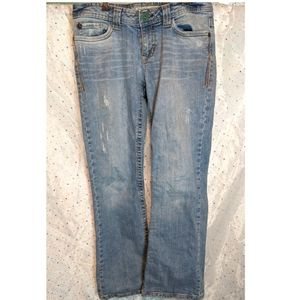 AEROPOSTALE 3/4 Hailey Skinny Flare Distressed